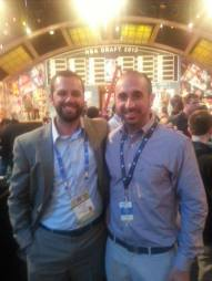 Tony Brasile and I at the 2013 NBA Draft