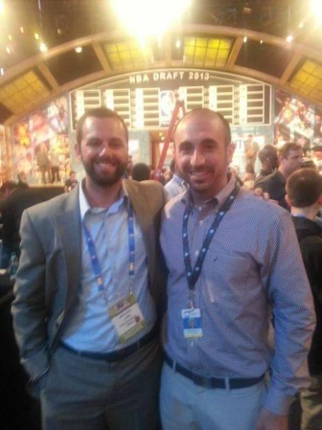 Tony Brasile and I at the 2013 NBA Draft