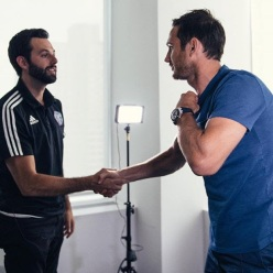 Shaking hands with Frank Lampard