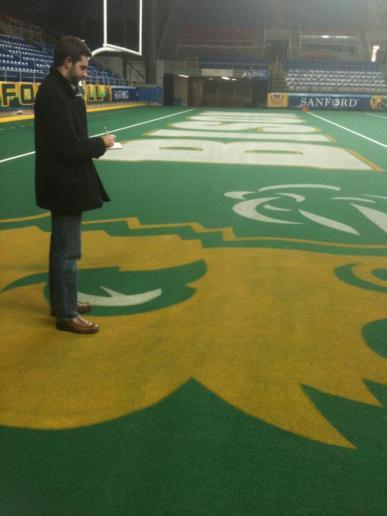 On the field at North Dakota State University