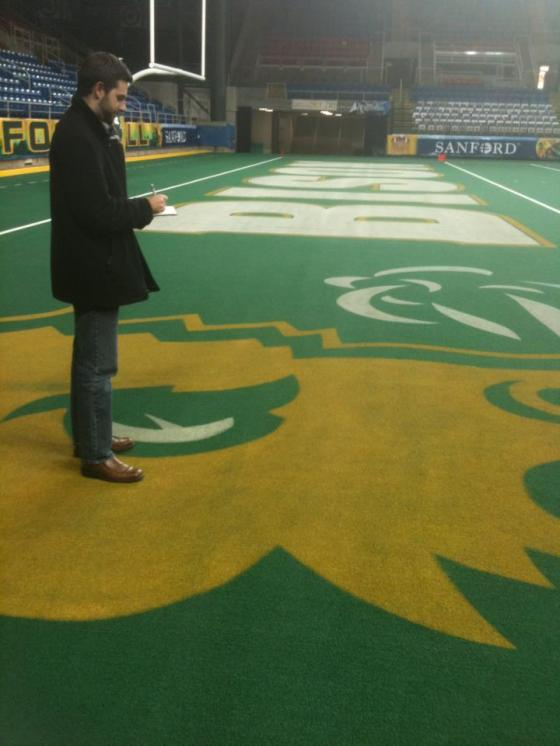 On the field at North Dakota State University