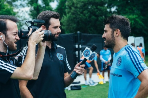 New York City FC captain David Villa