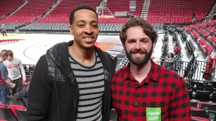 Great to see CJ McCollum when I was in Portland