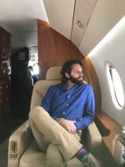 Took a private jet to Vermont for an assignment
