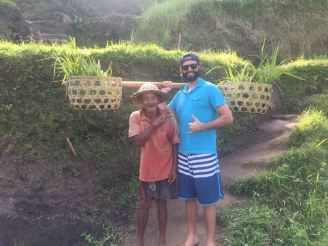 Hanging out with locals while on assignment in Bali