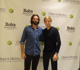 With Belgian pro tennis player David Goffin