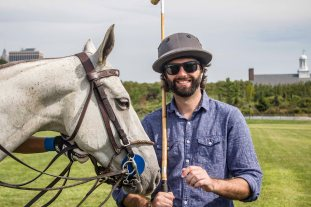 Trying my luck at polo on Governors Island