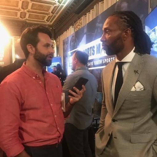 Interviewing Cardinals receiver Larry Fitzgerald