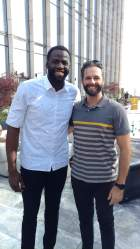 All smiles with Draymond Green