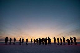 Amazing sunrise at the Asics Eternal Run