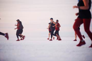 Running the Bonneville Salt Flats for the Asics Eternal Run