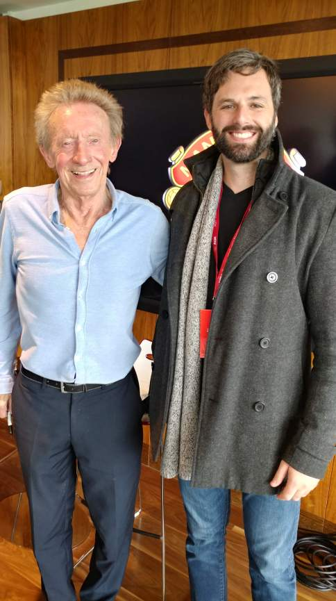 With Manchester United legend Denis Law