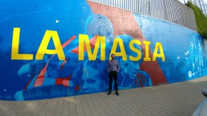 New artwork outside of La Masia