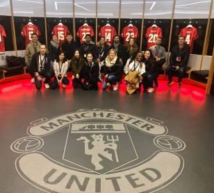 Manchester United locker room